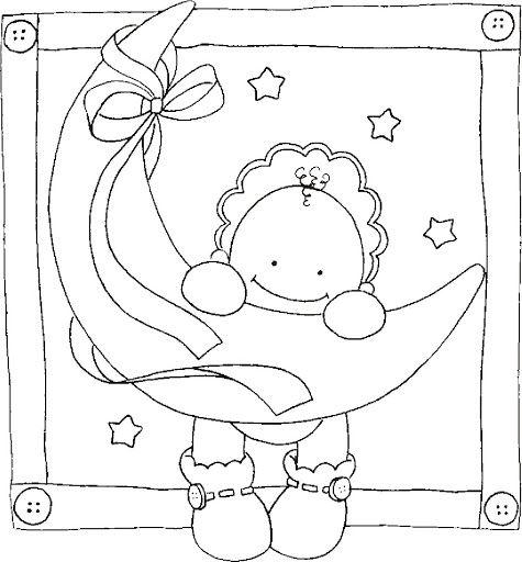 Dibujos y Plantillas para imprimir: Dibujos de bebes para tarjetas ...