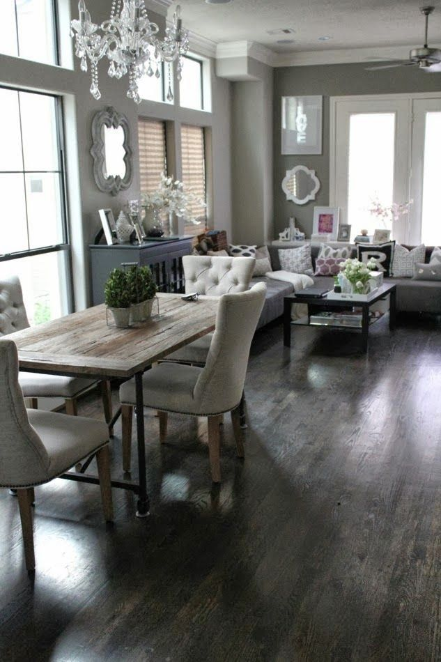 Rustic Contemporary Diningliving Room Combination Homes And Interesting Dining Room And Living Room Combo Style