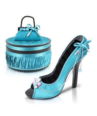 Turquoise Vintage Allure Peep Toe Shoe Ring Holder & Jewelry Box  😎ღღ✿⊱╮@TonjaAmenra