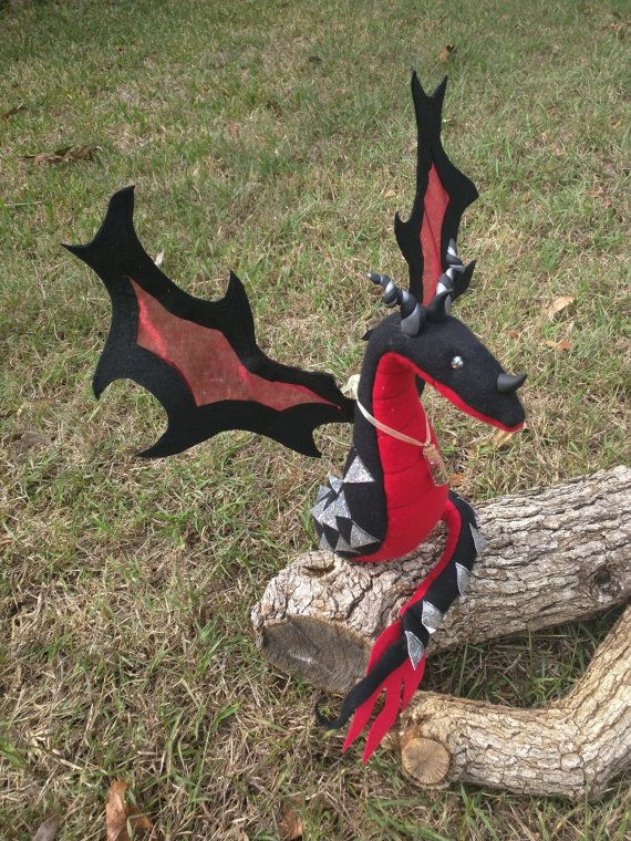 DragonSown Fancy Fabric Sculpture, Handmade to order Custom Dragon