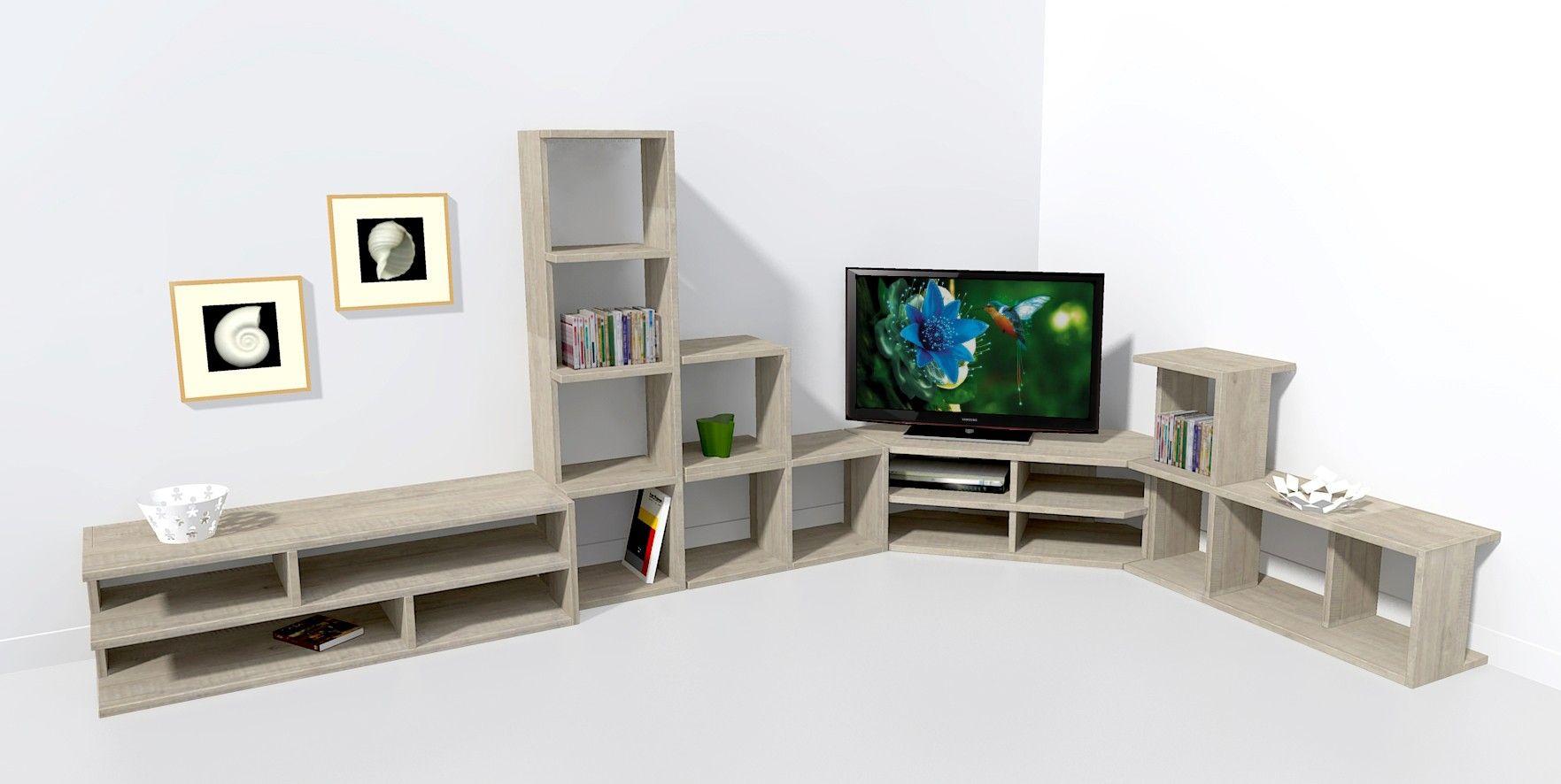 meuble t l d 39 angle 140 cm meuble tv en 2019 meuble. Black Bedroom Furniture Sets. Home Design Ideas