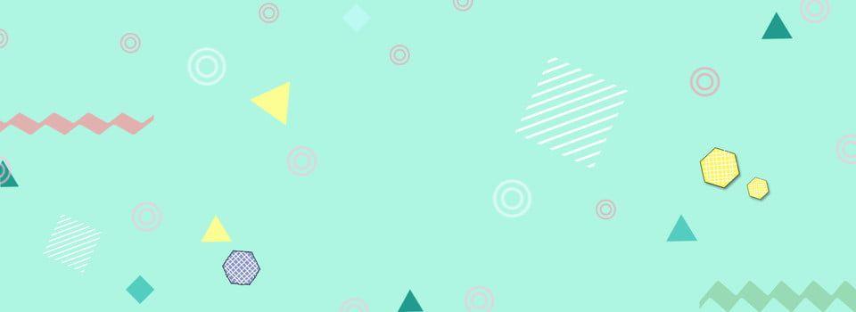 Banner Geometric Pop Style Background Seni