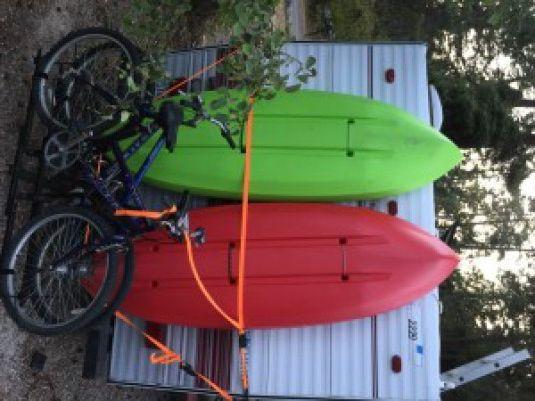 homemade vertical kayak rack