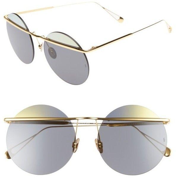 Iris D-frame Gold-tone Mirrored Sunglasses - one size Sunday Somewhere ZvQaXEVLFB