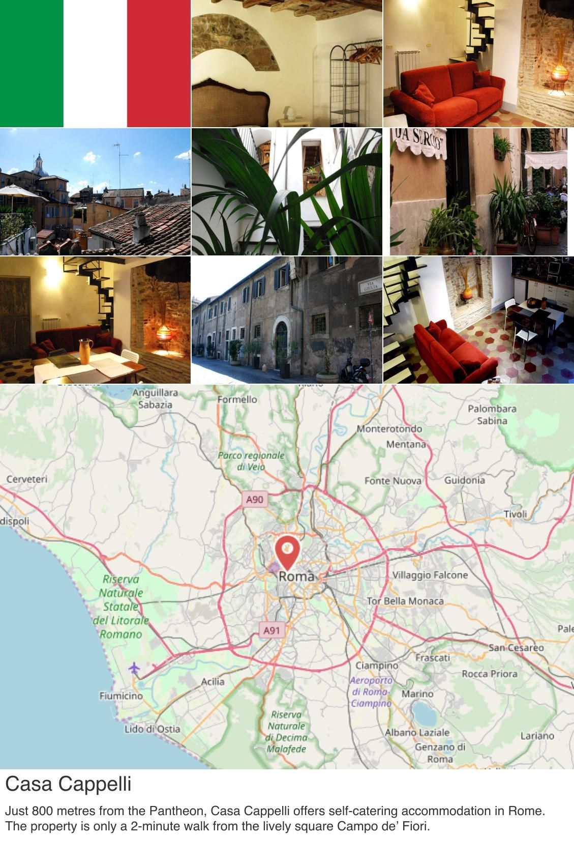 europe  italy  rome Casa Cappelli. Just 800 metres from the Pantheon ... b02691370a7b