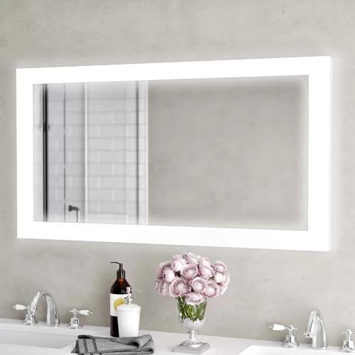 Orren Ellis Bones Backlit LED Bathroom/Vanity Mirror
