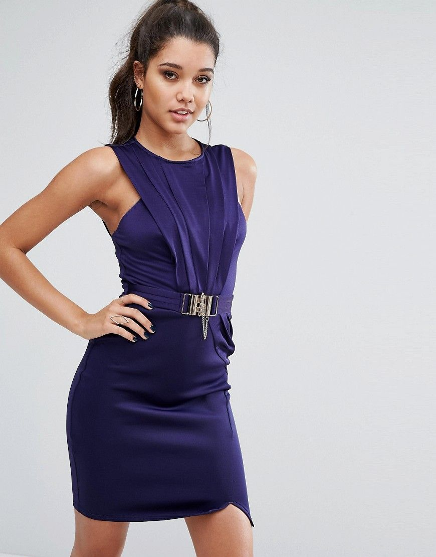 Michelle keegan loves lipsy wrap dress with belt navy Мастер