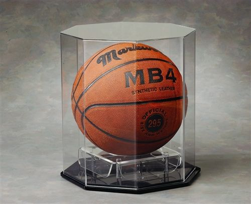 Octagon Full Size Basketball Acrylic Display Case B 5000 By N Case It Buy It Readygolf Acrylic Display Case Sports Display Cases Sports Memorabilia Display