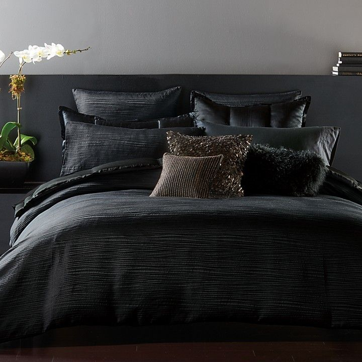 dark sultry luxury bedding donna karan reflection duvet cover king