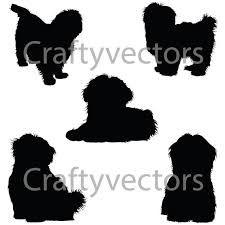 Afbeeldingsresultaat Voor Shih Tzu Silhouettes Silhouette Silhouette Tattoos Dog Silhouette