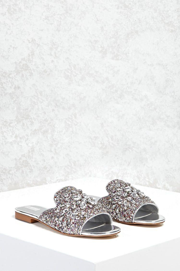 Rhinestone Loafer Slides