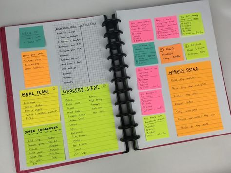 Planning the entire week using only sticky notes (52 Planners in 52 Weeks - Week 28