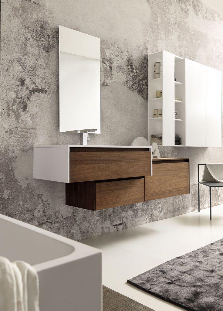 Ba os modernos muebles de ba o dise o ba os la madera for Bano de pared de concreto encerado