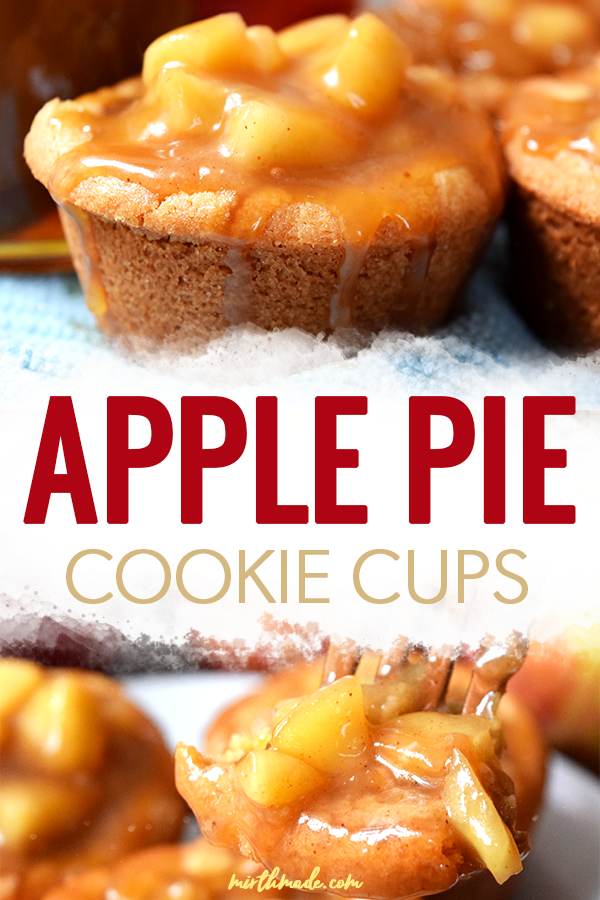 Apple Pie Cookie Cups  apple pie filling and cookies come together in these easy to make apple pie cookie cups An easy recipe thats even better than applie pie and perfec...