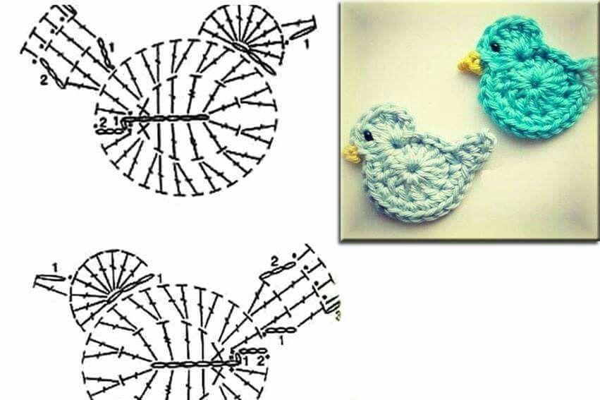 Kuş örneği | amigurumi | Pinterest | Apliques, Animales de ganchillo ...
