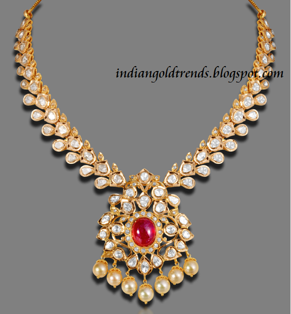 Gold And Diamond Jewellery Designs Indian Diamond Choker: Latest Indian Gold And Diamond Jewellery Designs: Latest