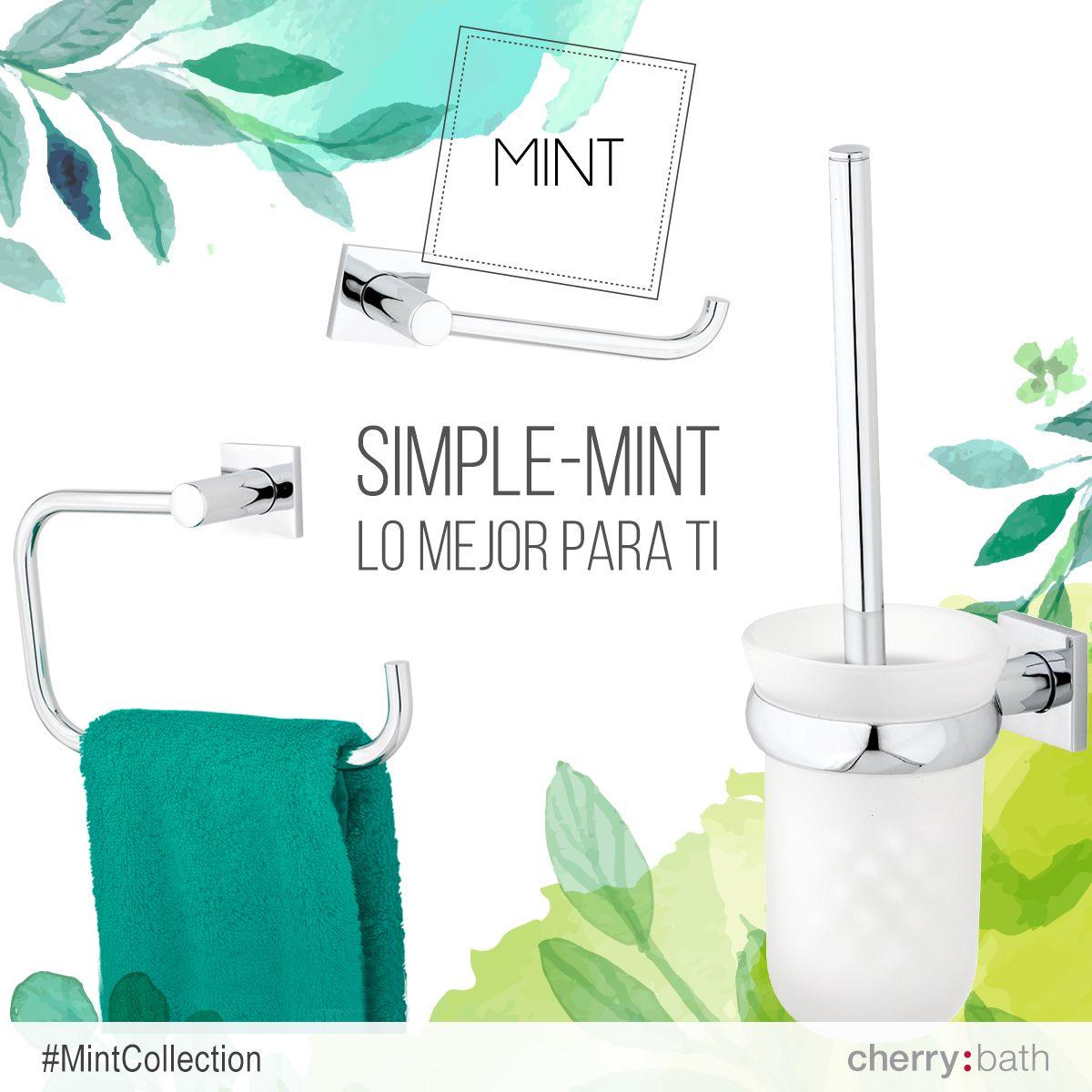 Mint Collection, simpleMINT los mejores accesorios de baño #bathroom #decoracion #diseño #verde #hogar #accesoriosbaño #baño #toallero #aro #escobillero