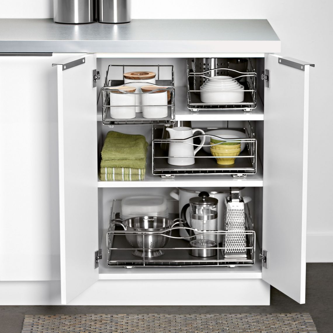 Ikea Tall Pantry Cabinet With Pull Out Shelves So You Can Reach