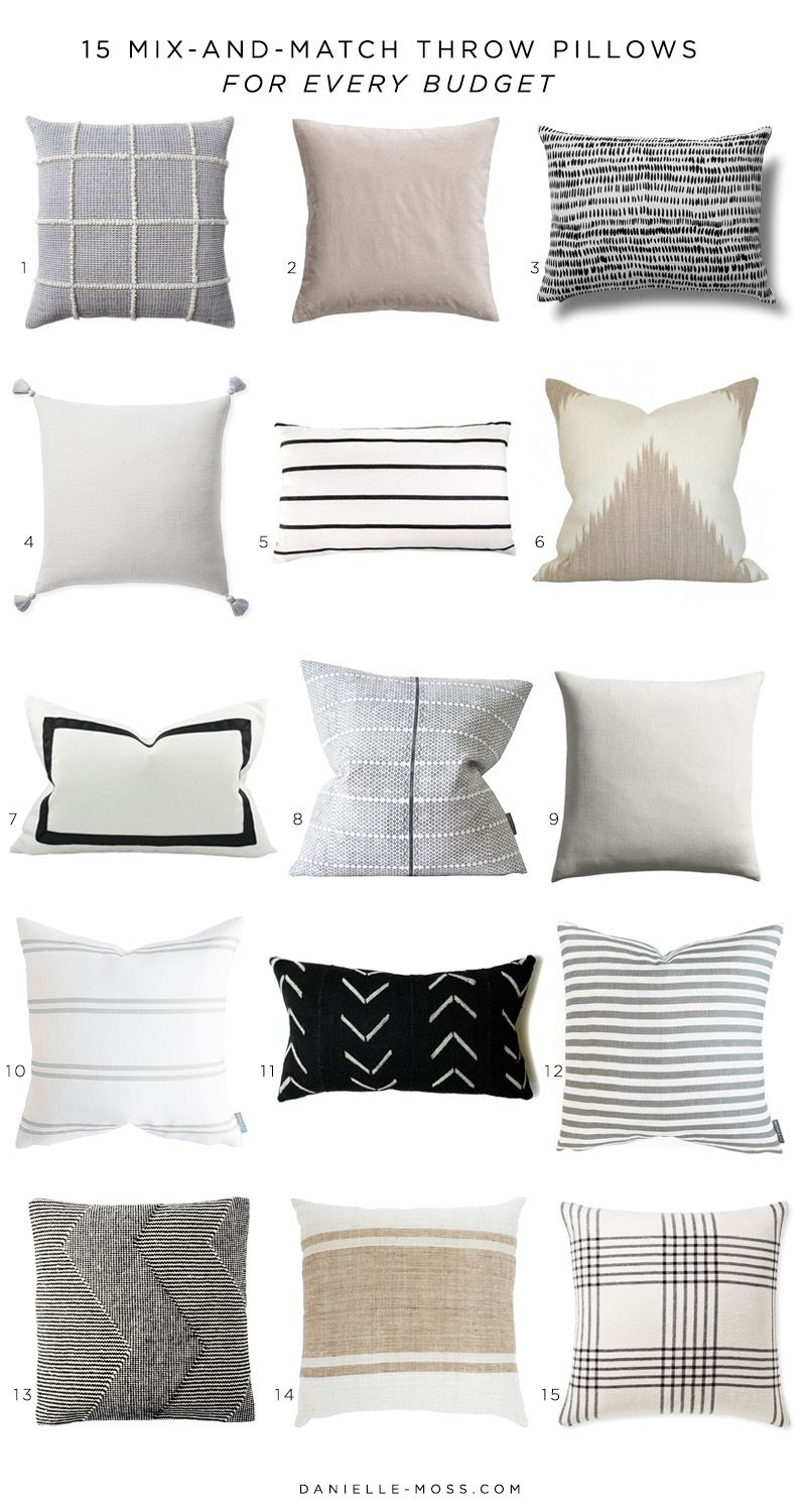 22 MixAndMatch Neutral Throw Pillows is part of Couch throw pillows - If you've ever looked for throw pillows for your home, you know how hard it can be to find a good one   or a few that work well together  I scoured the internet to find some of my favorite (m…