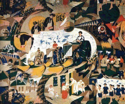 Fabulous Soviet fabrics from 1920-30's - Photos>