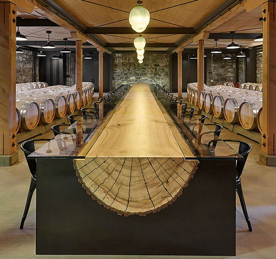 Cedar Dining Room Table: Table Design Ideas Dining Room Kitchen Interior Cedar Log