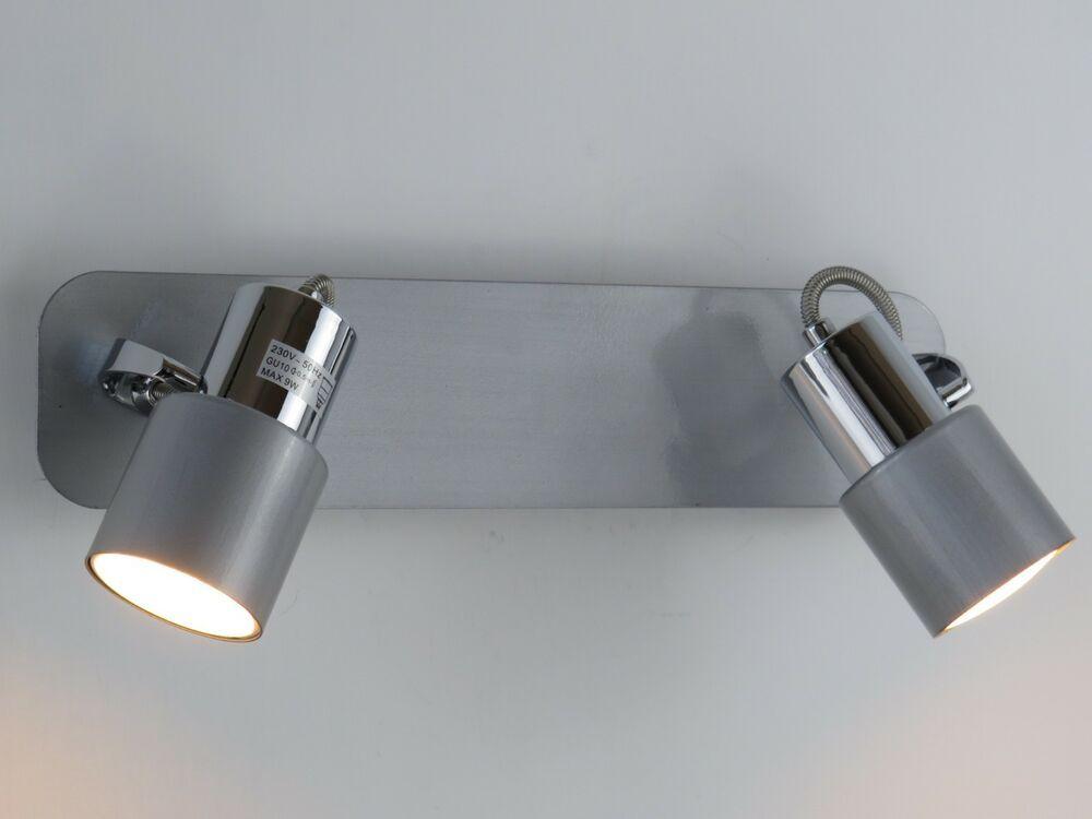 Applique moderno faretti specchio bagno cromo salone cucina camera