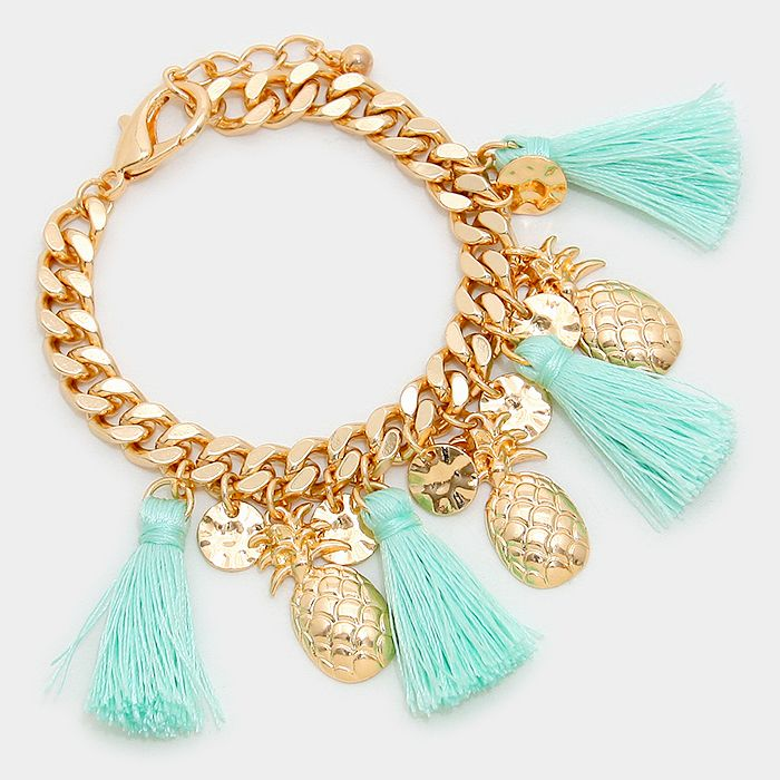 pineapple charm with tassle - Google Search
