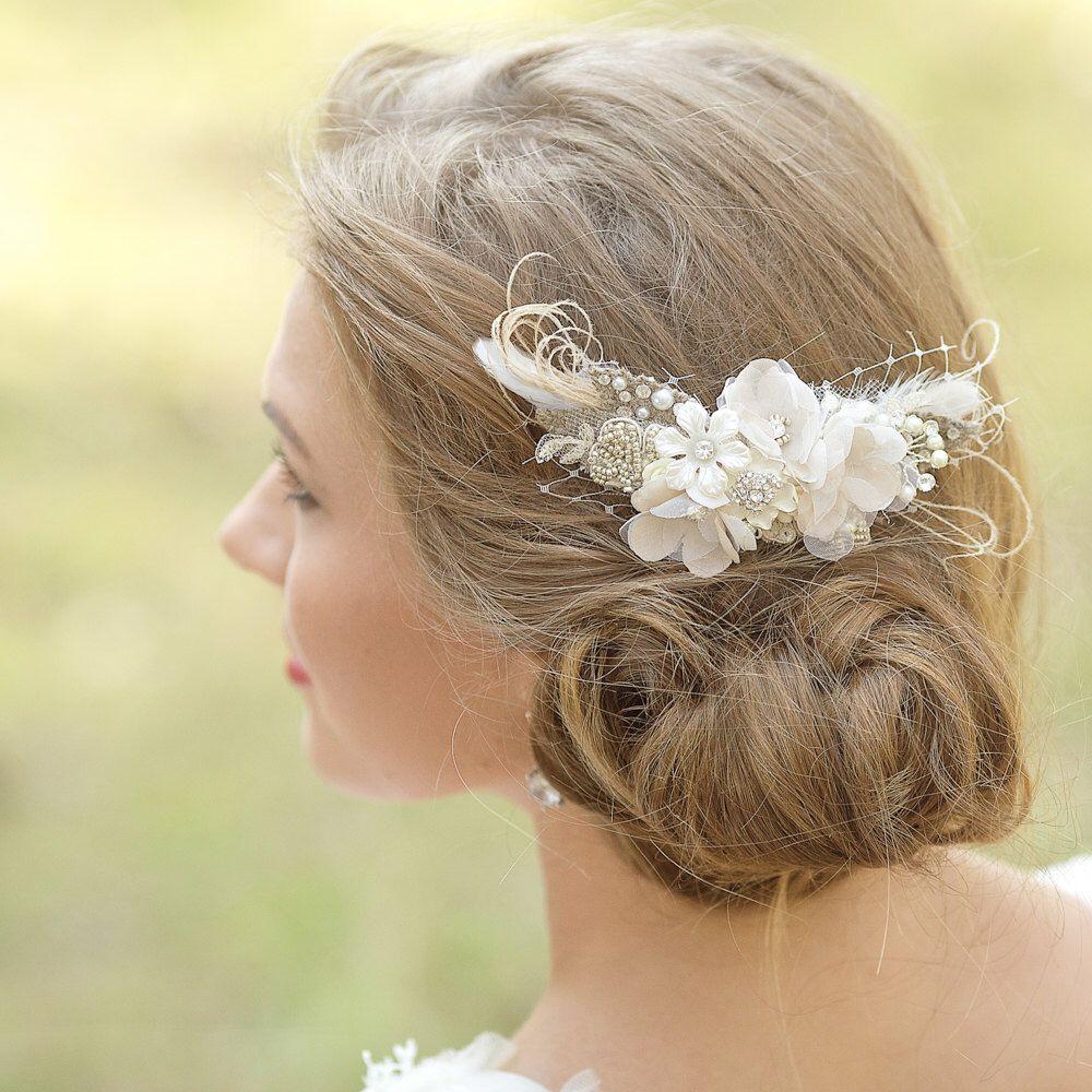 wedding hair accessories wedding hair piece flower hair comb