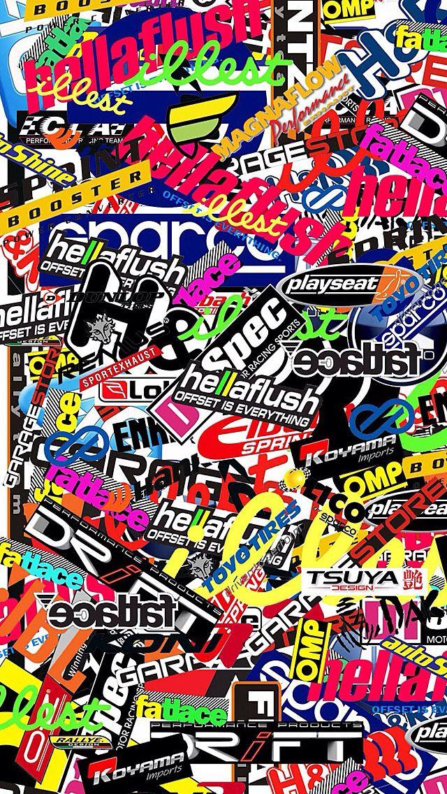 Sticker Bomb Wallpaper Jdm Love Stickers Laptop