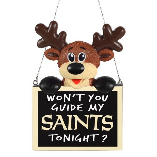 New+Orleans+Saints+Reindeer+Guide+Sculpted+Resin+Ornament ...