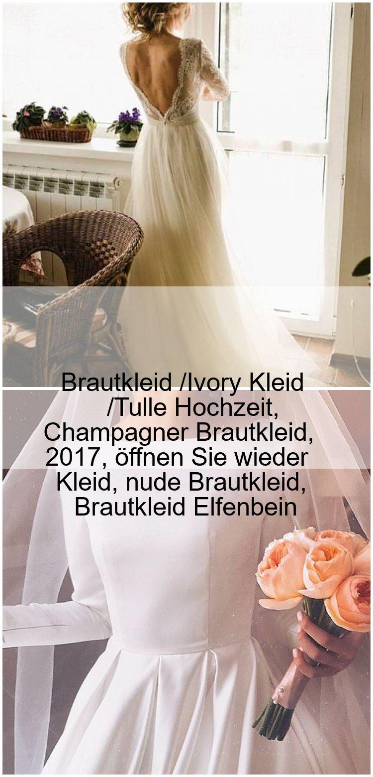 Brautkleid /Ivory Kleid /Tulle Hochzeit, Champagner Brautkleid
