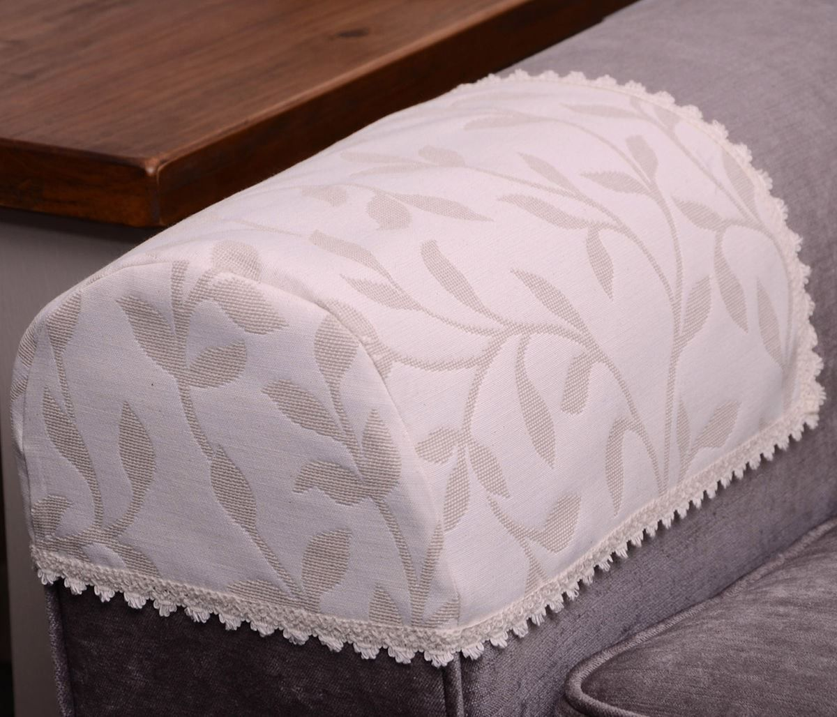 Jess Arm Caps Or Chair Backs Floral Cream Beige Natural Embroidered Sofa Cover Diy Chair Covers Arm Chair Covers Chair Back Covers