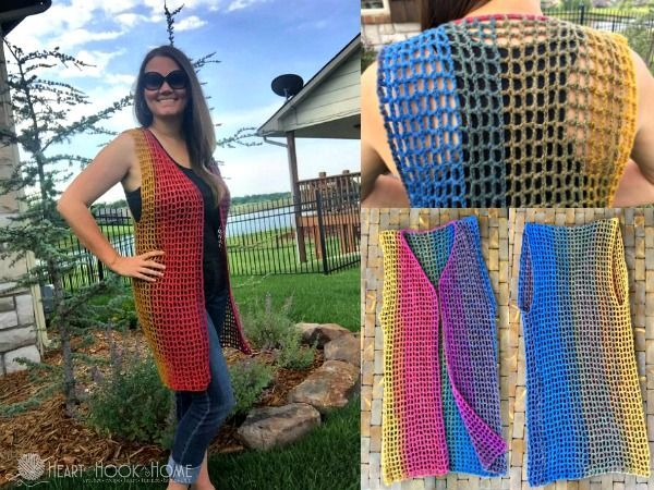 311d7eee473d3 Easy Breezy Lightweight Summer Vest Crochet Pattern (Heart · Hook ...
