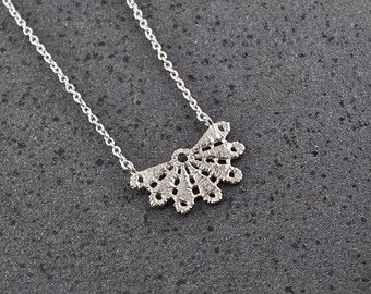 silver necklace on Etsy, a global handmade and vintage marketplace.