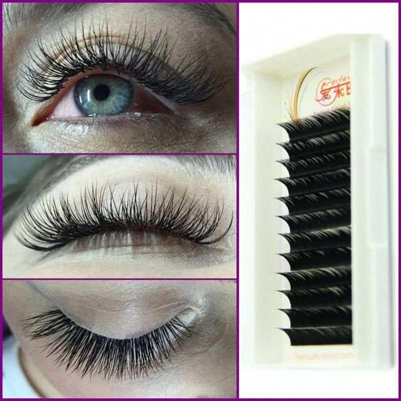 c44ad4b9772 High Quality Long Natural False Eye Lash Extension Mink Lashes Free  Shipping Thickness:0.05mm