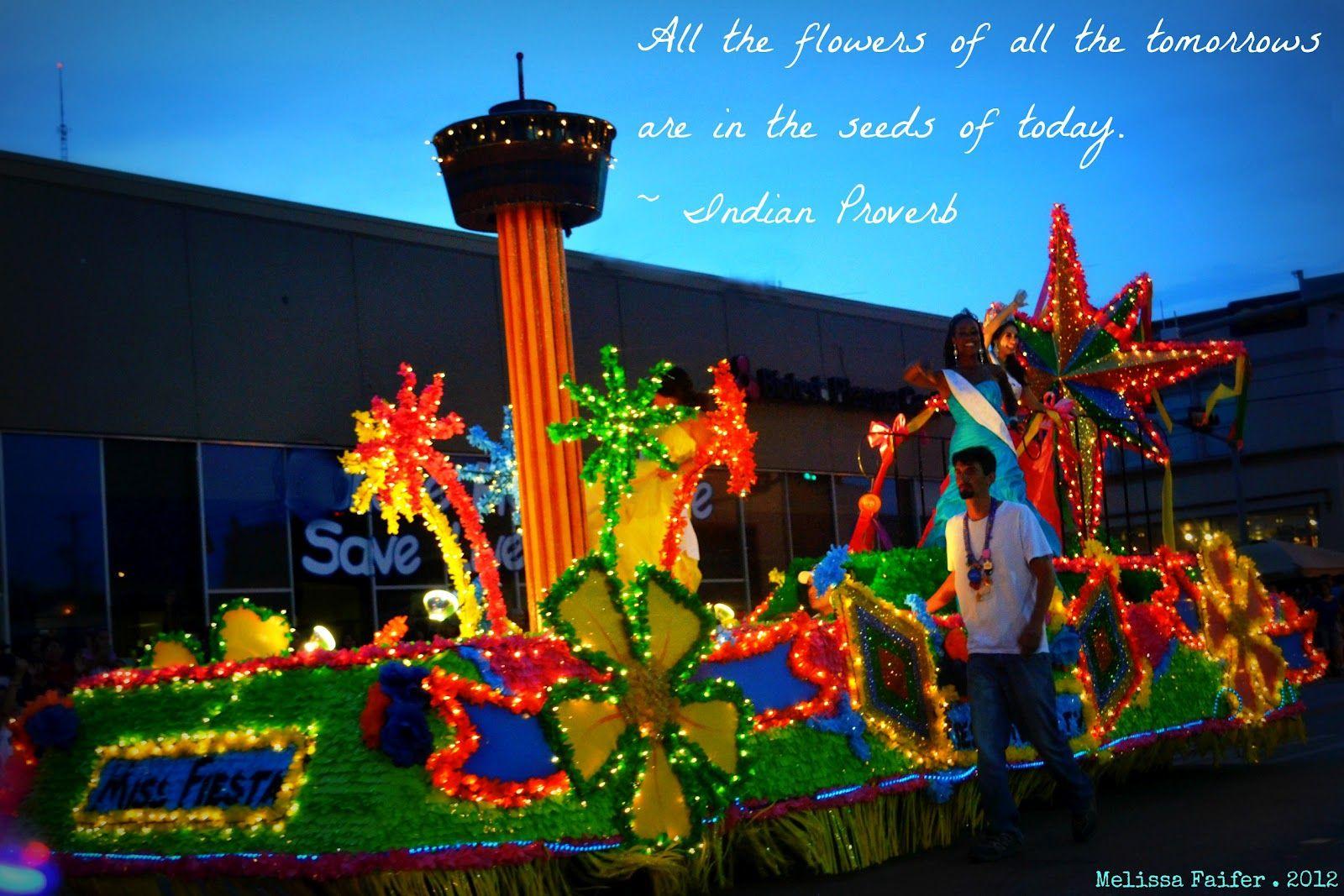 Fiesta Night Parade Float San Antonio Fiesta Time San