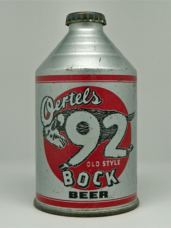 Oertels 92 Bock Beer Louisville Ky 2 200 Vintage Beer Old Beer Cans Beer History