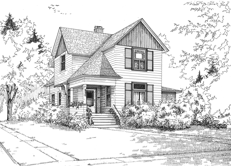 работы нарисовать двухэтажный дом картинки экземпляр сохранился