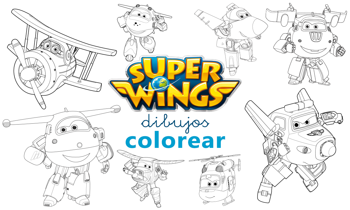 dibujos colorear super wings para ninos avec images