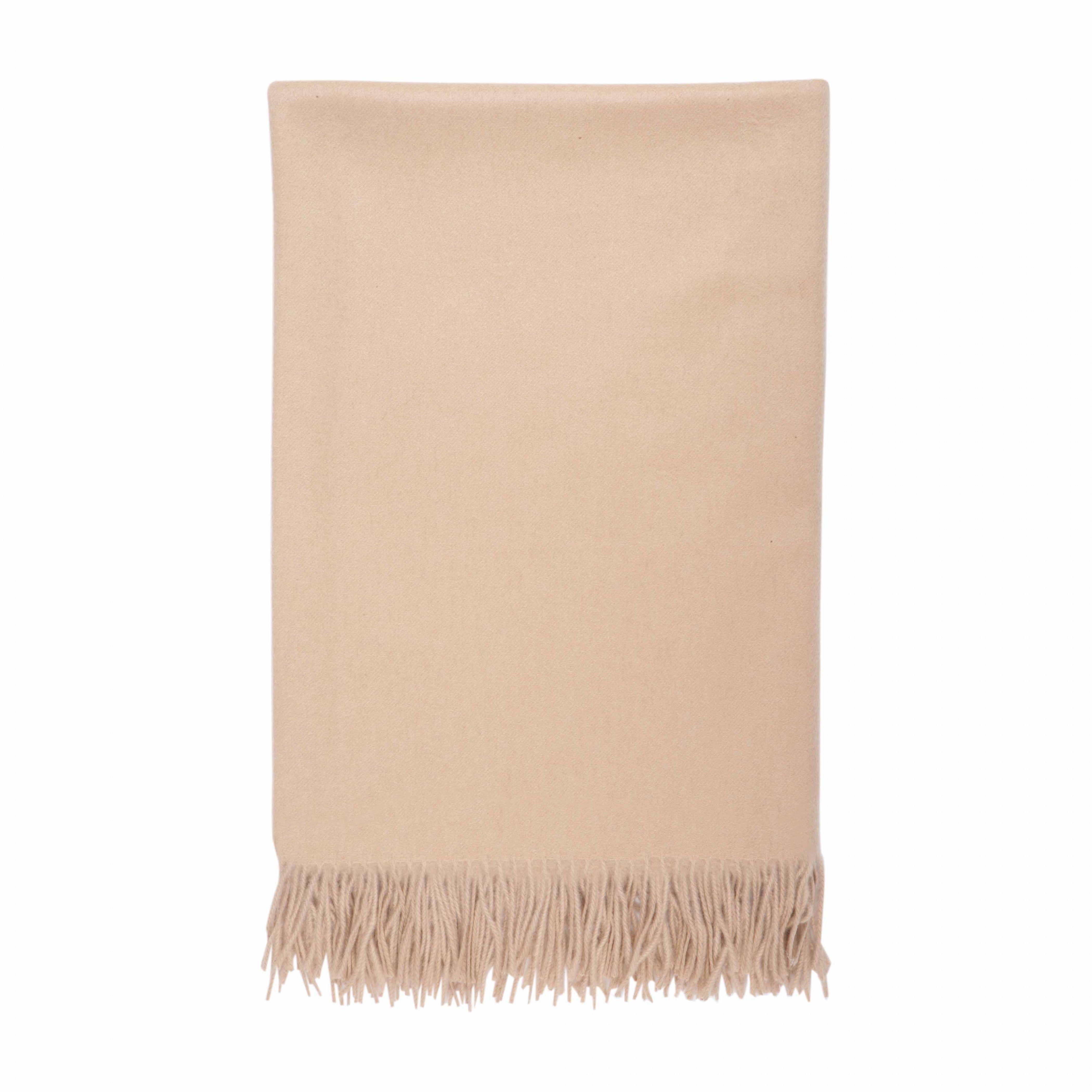 Cashmere Oatmeal Plain Throw