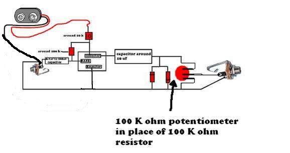simple guitar distortion circuit