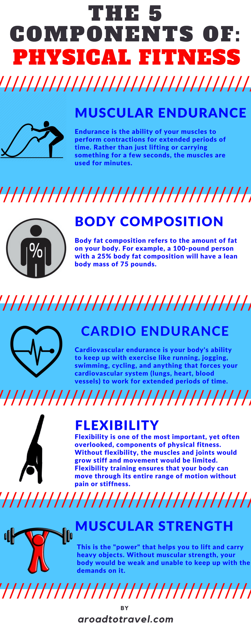 5 components of physical fitness and examples