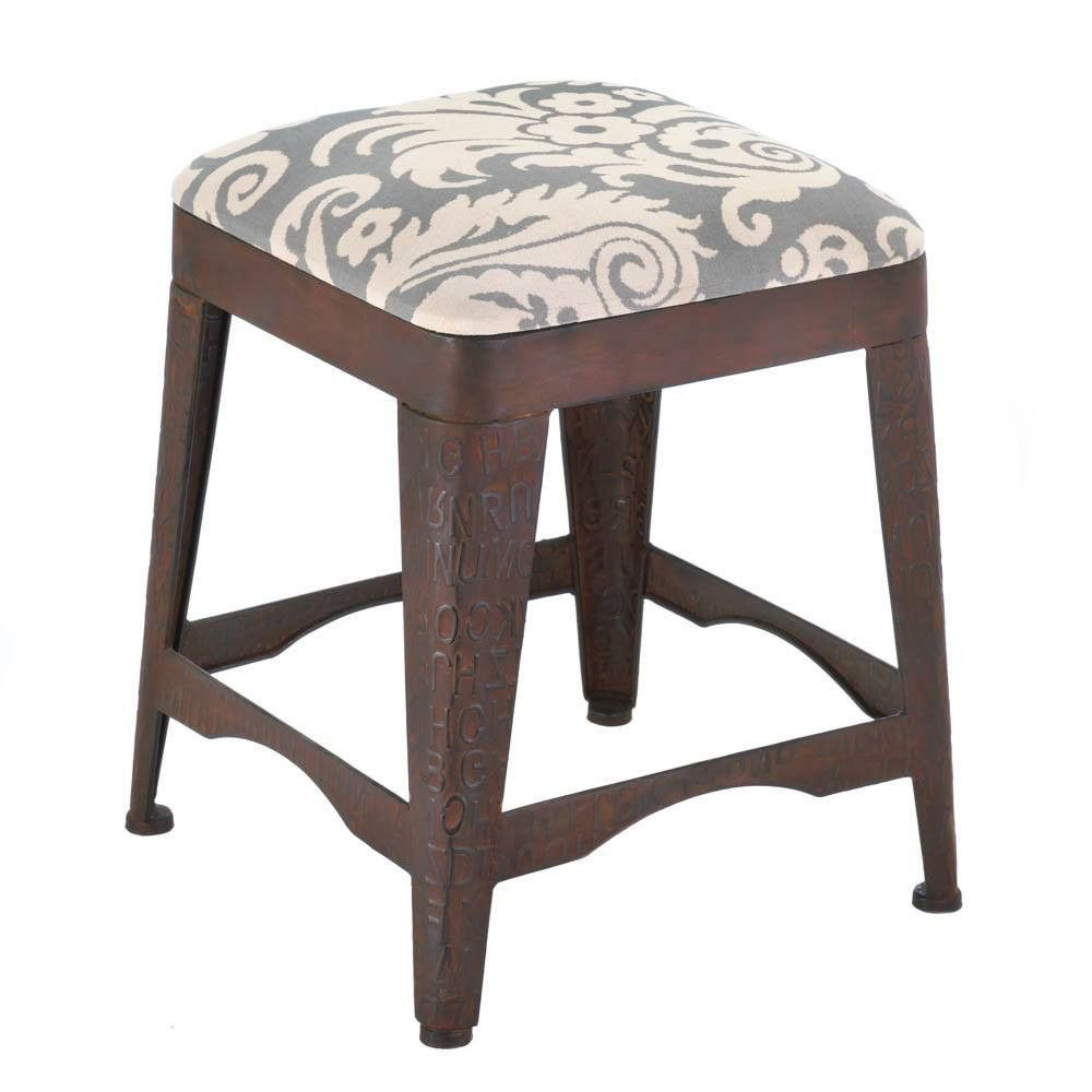 Industrial Metal and Fabric Foot Stool  sc 1 st  Pinterest & Industrial Metal and Fabric Foot Stool   Metals Products and ... islam-shia.org