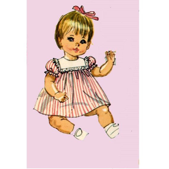 Vintage Doll Clothes PATTERN 7970 for 12 13 in Betsy Wetsy Ginny Baby by Ideal