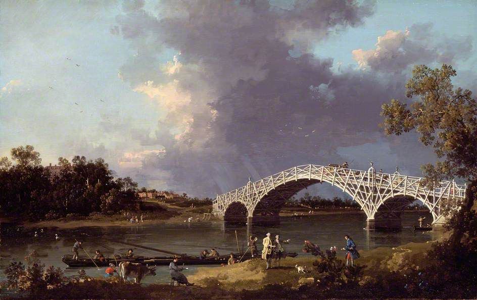OLD WALTON BRIDGE OVER THE THAMES. oil on canvas. 48,8 × 76,7 cm. Dulwich Picture Gallery. Inv. No. 600.