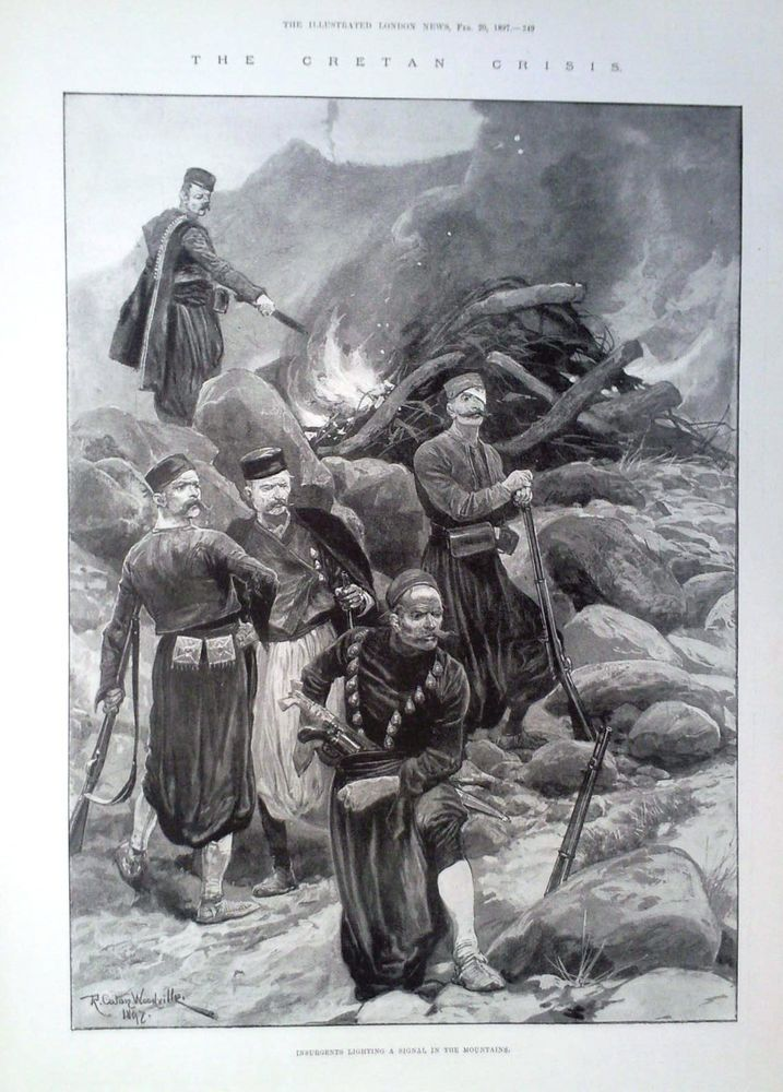 1897 PRINT SCENES FROM THE CRISIS IN CRETE County