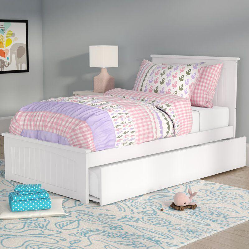 Benites Platform Bed With Trundle In 2020 Trundle Bed Kid Beds Bed Frame