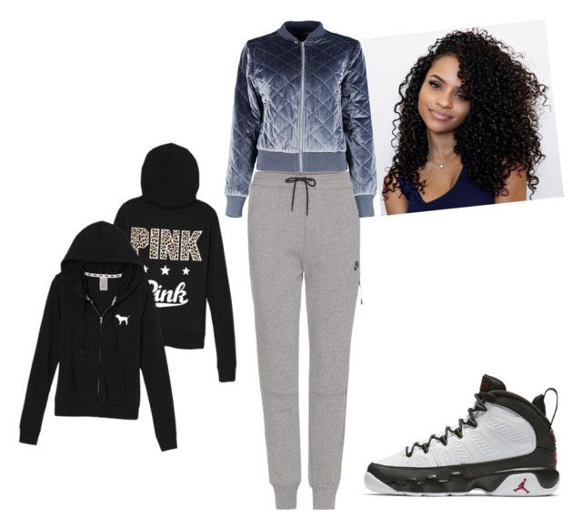 """""""I seen a girl wearing this"""" by ladavis on Polyvore featuring NIKE and Boohoo"""