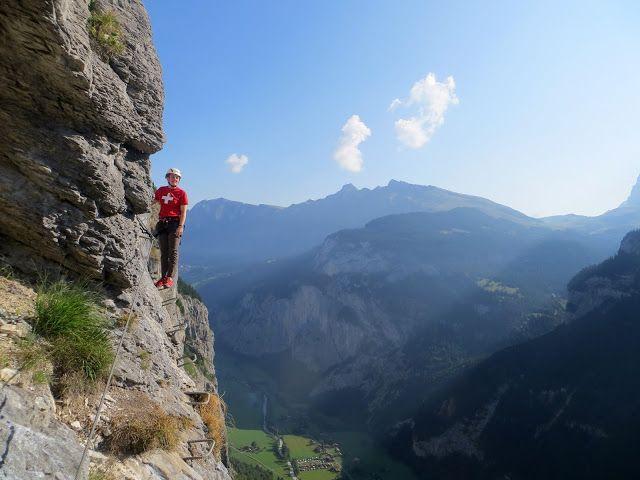Klettersteig Lauterbrunnen : Via ferrata ft above lauterbrunnen valley swiss alps places
