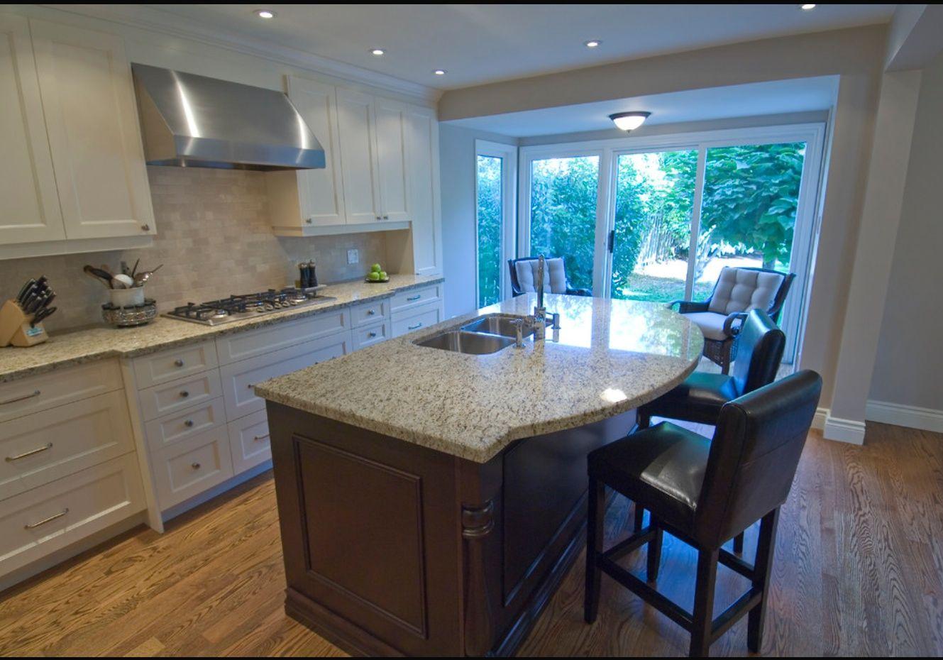 Tumbled Travertine Subway Tile- Giallo Ornamental Granite | Kitchen ...